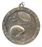 "2 1/2"" Gold Football Shooting Star Medal"