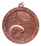 "2 1/2"" Bronze Football Shooting Star Medal"