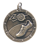 "1 3/4"" Gold Track Shooting Star Medal"