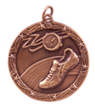 "1 3/4"" Bronze Track Shooting Star Medal"