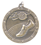 "2 1/2"" Gold Track Shooting Star Medal"