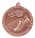 "2 1/2"" Bronze Track Shooting Star Medal"