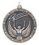"1 3/4"" Gold Victory Shooting Star Medal"