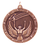 "1 3/4"" Bronze Victory Shooting Star Medal"
