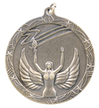 "2 1/2"" Gold Victory Shooting Star Medal"