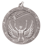 """2 1/2"""" Silver Victory Shooting Star Medal"""