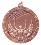 "2 1/2"" Bronze Victory Shooting Star Medal"