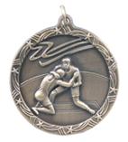 "1 3/4"" Gold Wrestling Shooting Star Medal"
