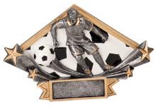 "4 1/4"" x 6 1/4"" Male Soccer Diamond Star Resin"