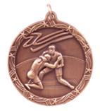 "1 3/4"" Bronze Wrestling Shooting Star Medal"
