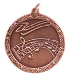 "1 3/4"" Bronze Music Shooting Star Medal"
