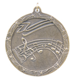 "2 1/2"" Gold Music Shooting Star Medal"