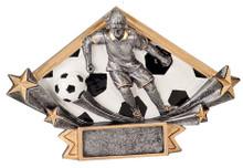 """4 1/4"""" x 6 1/4"""" Female Soccer Diamond Star Resin"""