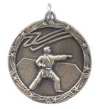"1 3/4"" Gold Karate Shooting Star Medal"