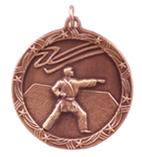 "1 3/4"" Bronze Karate Shooting Star Medal"