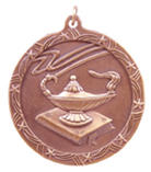 "2 1/2"" Bronze Lamp of Knowledge Shooting Star Medal"