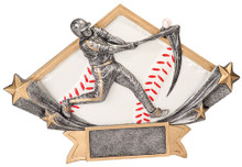 "5 3/4"" x 8 1/2"" Male Baseball Diamond Star Resin"