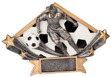 """5 3/4"""" x 8 1/2"""" Female Soccer Diamond Star Resin"""
