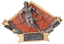 "5 3/4"" x 8 1/2"" Male Basketball Diamond Star Resin"