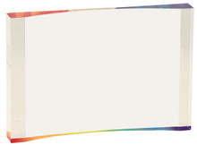 "7"" x 4 1/2"" Rainbow 1"" Thick Acrylic Crescent"