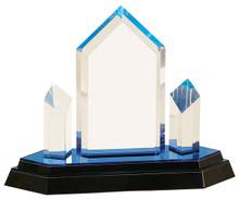 "8 1/4"" Blue Jewel Tower Impress Acrylic"