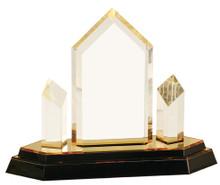 "8 1/4"" Gold Jewel Tower Impress Acrylic"