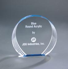 "6 1/2"" x 6"" Blue Round Acrylic"