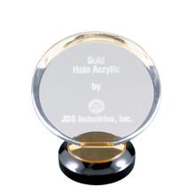 """8"""" Gold Halo Acrylic"""
