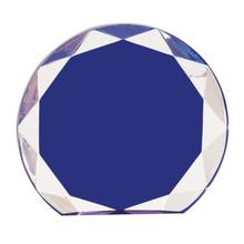 """6 1/4"""" Blue Sunburst Acrylic"""