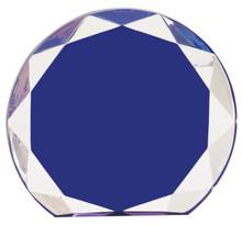 """5 1/2"""" Blue Sunburst Acrylic"""