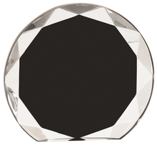 "6 1/4"" Black Sunburst Acrylic"
