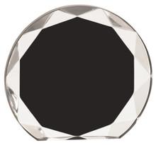"5 1/2"" Black Sunburst Acrylic"