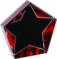 """6"""" Star Red Velvet Acrylic"""