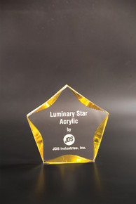 "5"" Clear/Gold Luminary Star Acrylic"