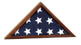 "25 1/2"" x 12 3/4"" Genuine Walnut Flag Display Case"