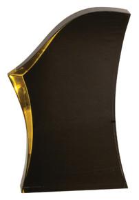 "7"" Black/Gold Luminary Surge Acrylic"
