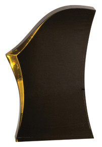 "8"" Black/Gold Luminary Surge Acrylic"
