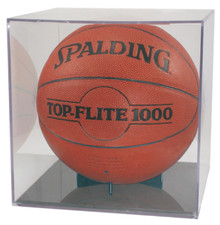 Clear Basketball/Soccer Display Case with Holder