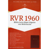 Biblia RVR 1960 Letra Super Gigante (Rojo vino-Piel fabricada)