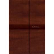 Biblia RVR 1960  Letra Súper Gigante marrón (Símil piel y solapa con imán)