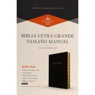 Biblia RVR 1960 Letra Grande Tamaño Manual (Negro imitación piel con índice)