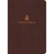 Biblia RVR 1960 Letra Grande Tamaño Manual (Marrón piel fabricada con índice)