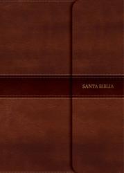 Biblia RVR 1960 Letra Grande Tamaño Manual (Marrón, símil piel y solapa con imán)