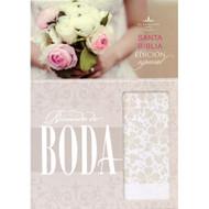 RVR 1960 Biblia Recuerdo de Boda, blanco floral símil piel | RVR 1960 Keepsake Bride's Bible
