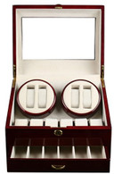 Kendal Wooden Watch Winder (4)+12 Storage Box with Japanese Motor & Advanced Control