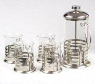 French Press Coffee Maker (24 oz) and 4 Coffee Cups (6.8oz) BLT-5