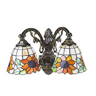 Tiffany Style 2 Heads Wall Lamp 08004
