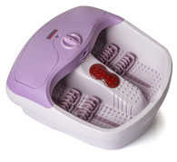 All in one foot spa bath massager with heat, HF vibration, infrared, bubbles plus electronic pedicure & callus remover kit FB36A