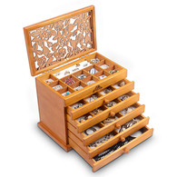 Hemlock Wood Jewelry Box Case SI-JC866