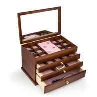 Wood Jewelry Box Case SI-1821B
